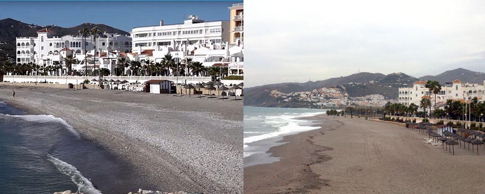 Playa El Chucho bajo el hotel Perla Marina