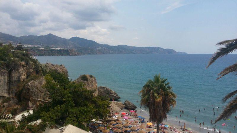 Vistas de la playa calahonda